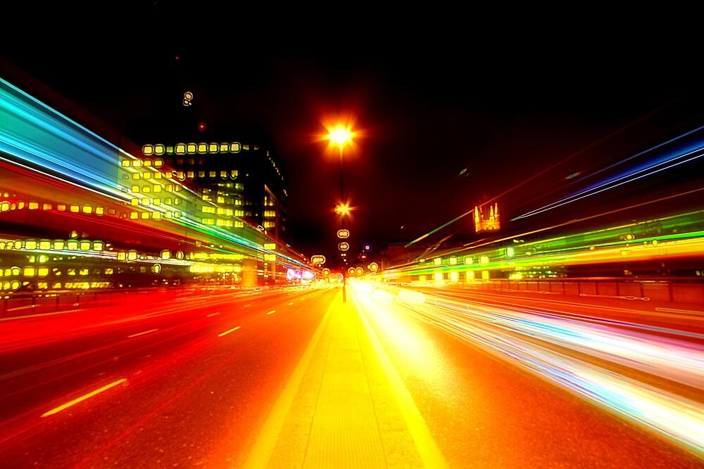 London Bridge Light Trails by Peter Tachauer