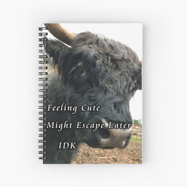 Feeling Cute...IDK Spiral Notebook