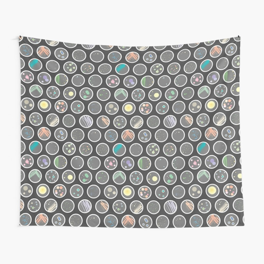 Petri Dishes Wall Tapestry