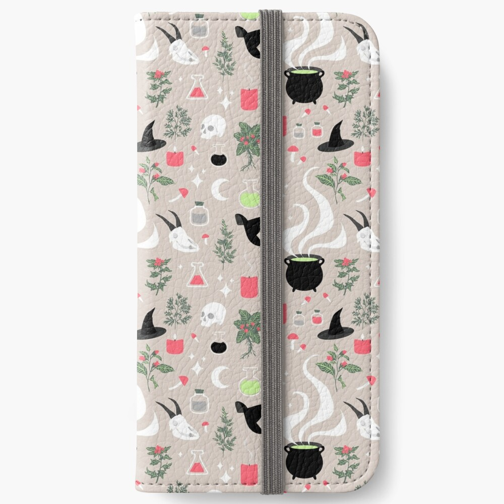 Witchy Pattern - Light iPhone Wallet