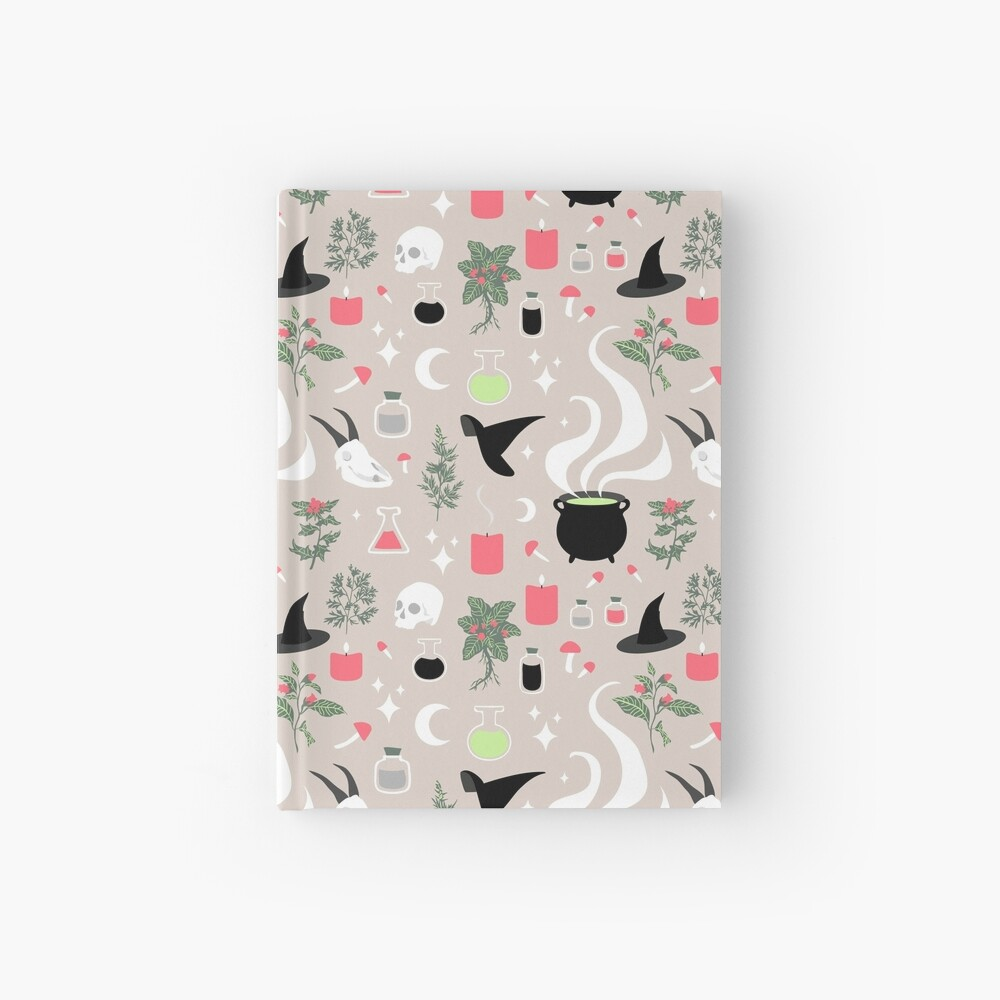 Witchy Pattern - Light Hardcover Journal