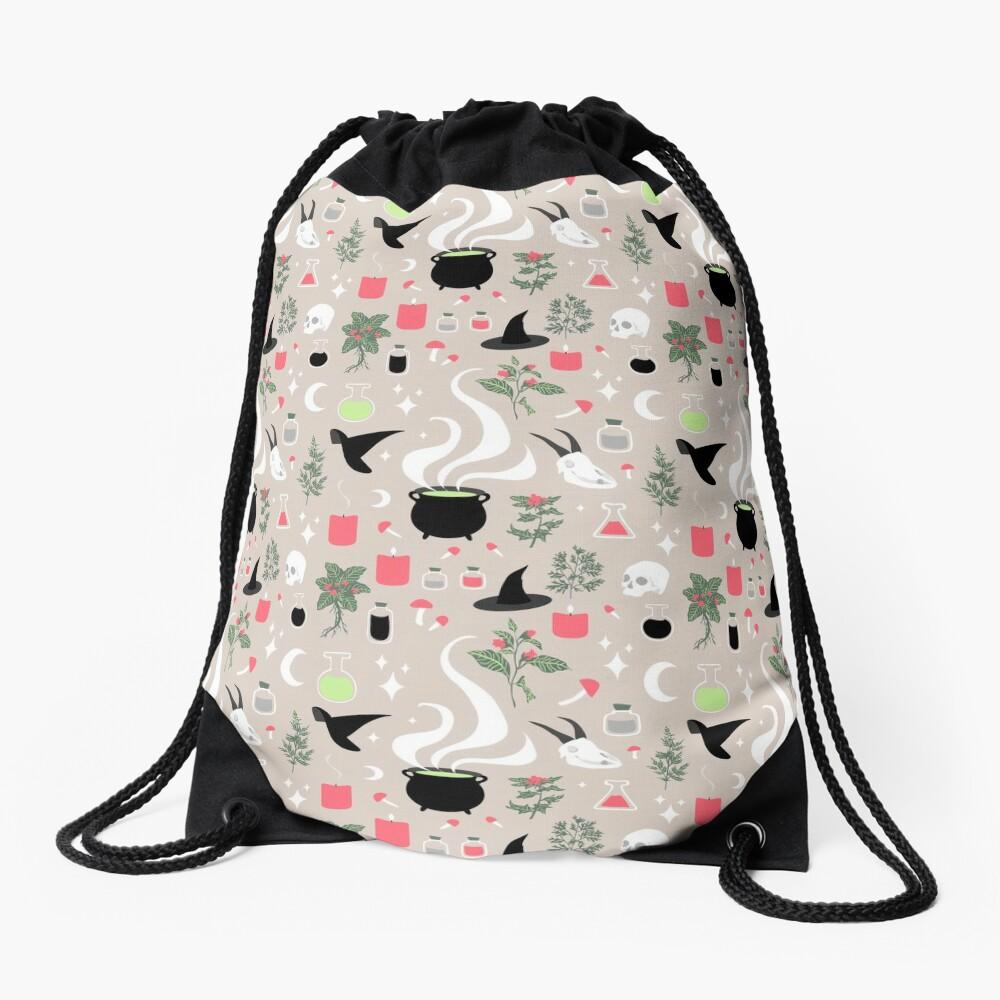 Witchy Pattern - Light Drawstring Bag