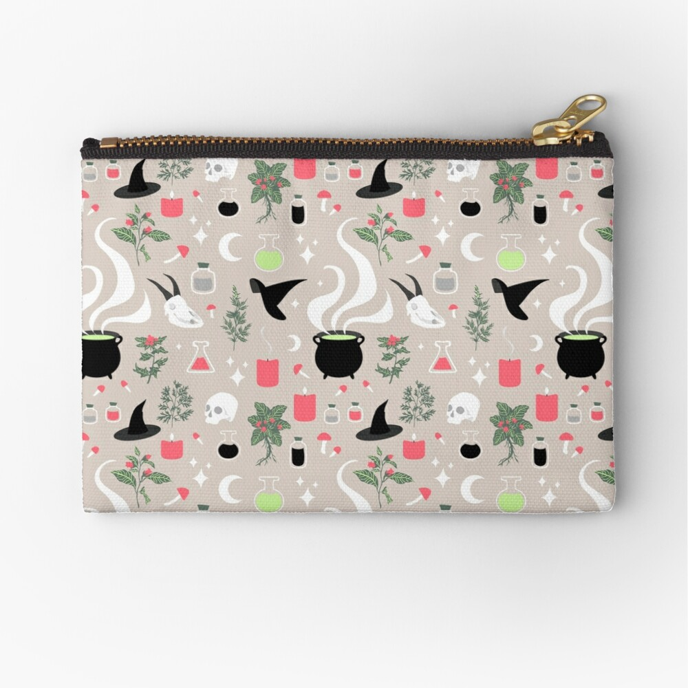 Witchy Pattern - Light Zipper Pouch