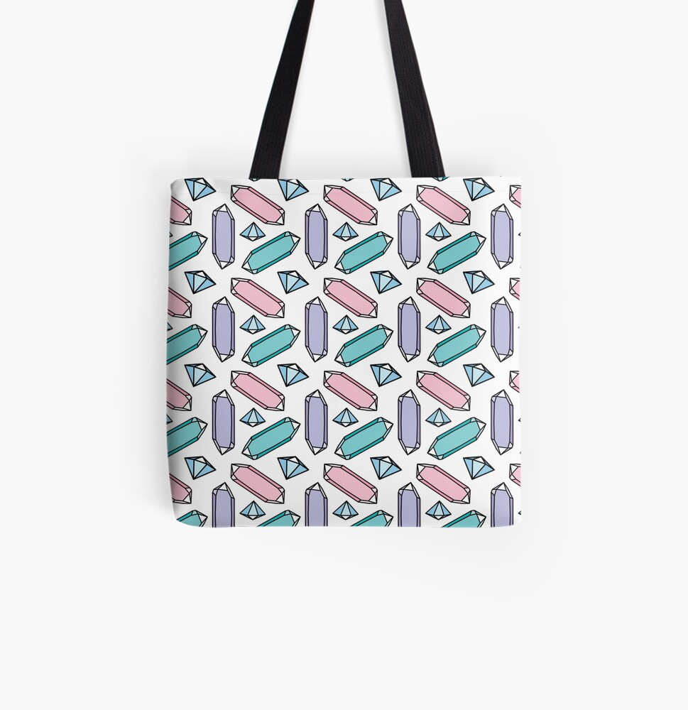 Crystals All Over Print Tote Bag
