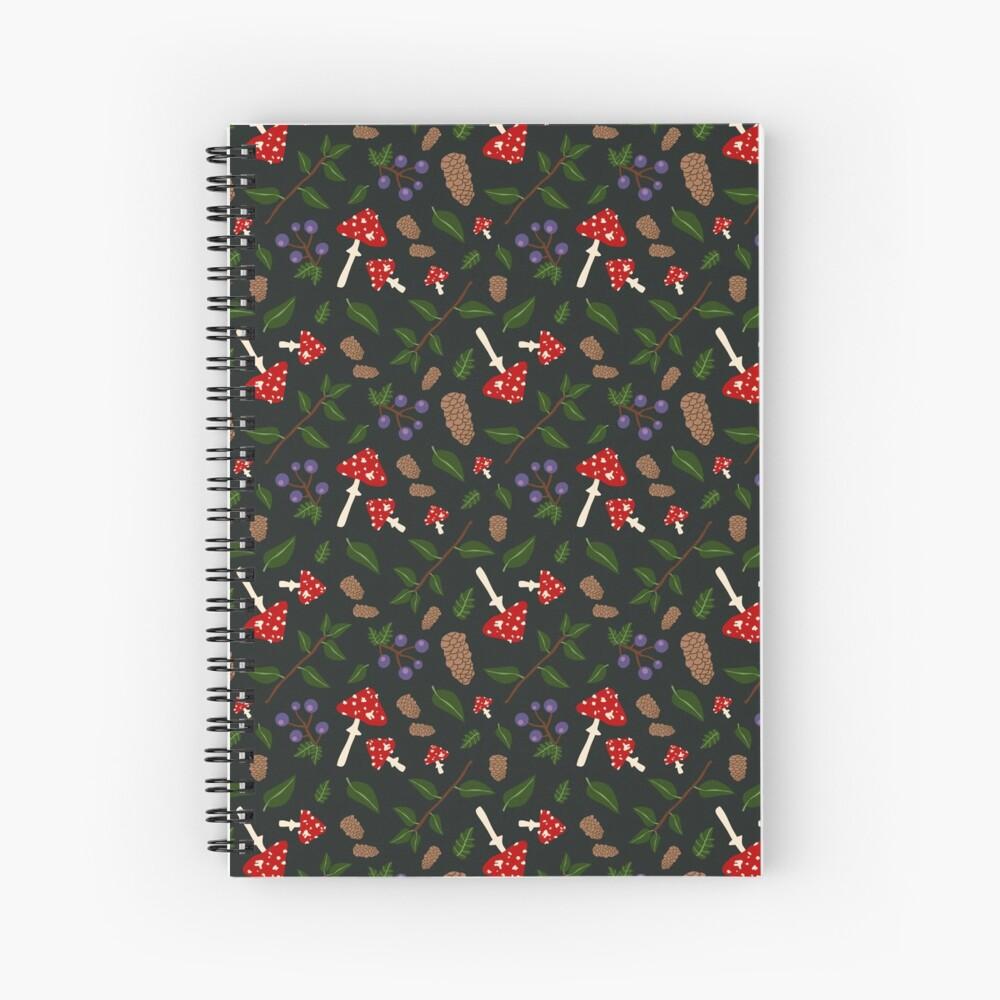 Forest Pattern Spiral Notebook
