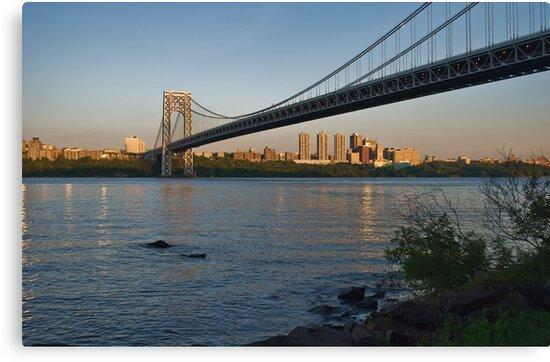 Sunset over Manhattan by Sally Kady