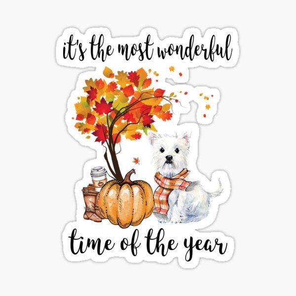 Westie and Autumn  Sticker