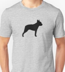 Boston Terrier Silhouette (n) Unisex T-Shirt