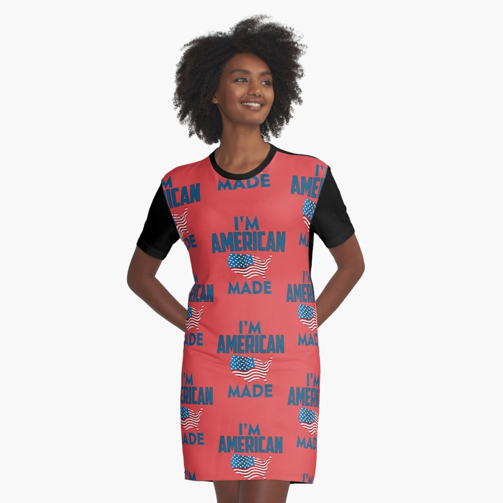 I Am American Graphic T-Shirt Dress