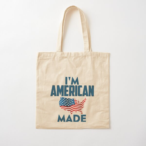 I Am American Cotton Tote Bag