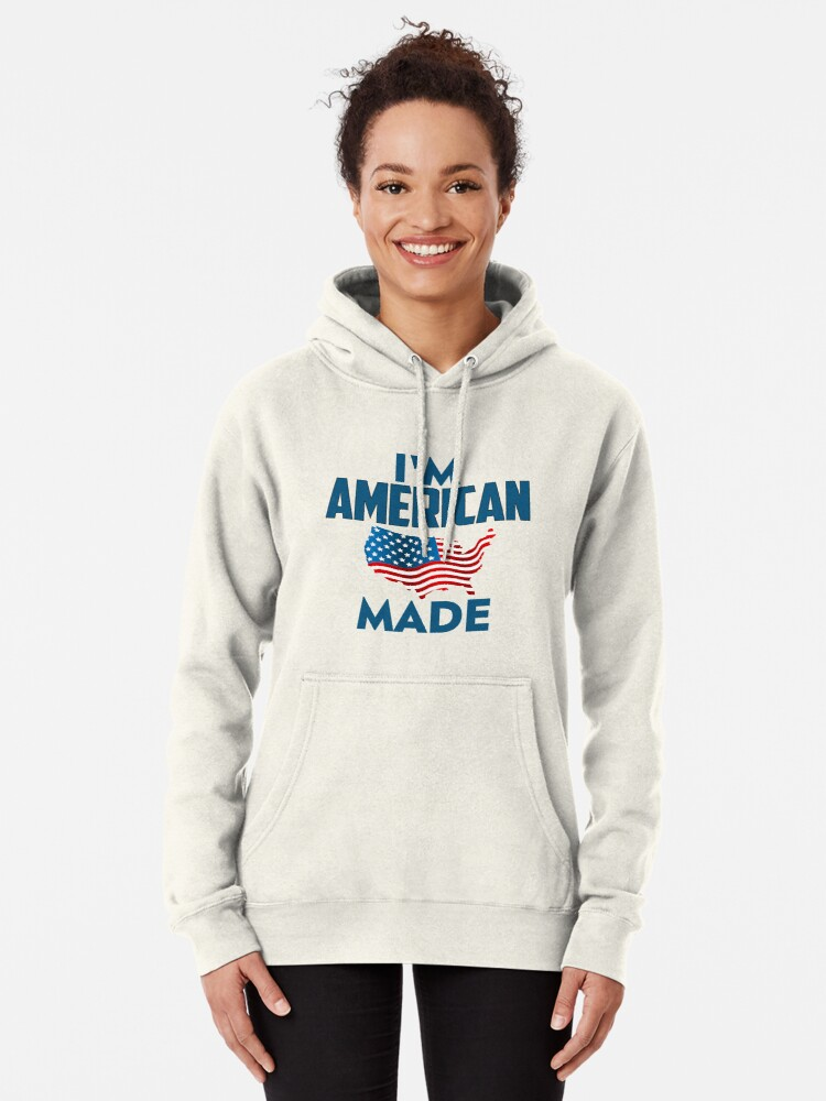 Alternate view of I Am American Pullover Hoodie