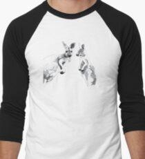 Kangaroos Black and White Baseball ¾ Sleeve T-Shirt