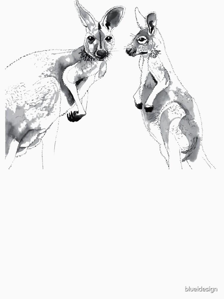 Kangaroos Black and White by blueidesign