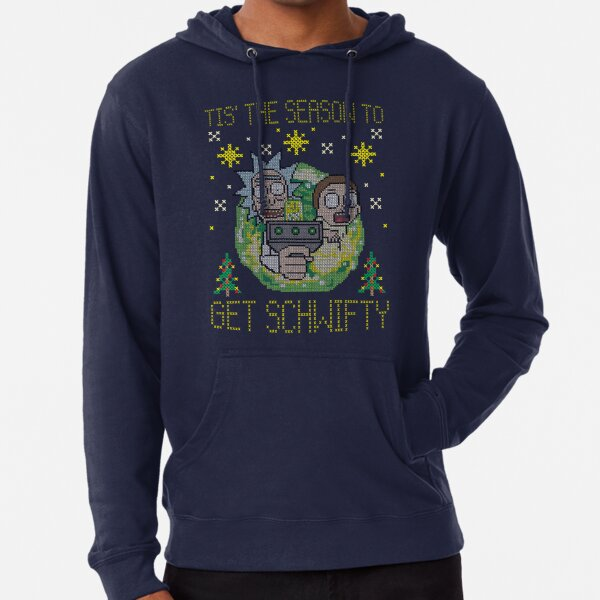RICK AND MORTY CHRISTMAS Lightweight Hoodie