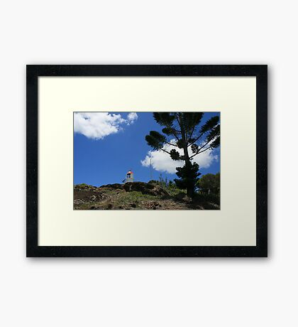 Almost to the Top of Double Island Point Framed Print