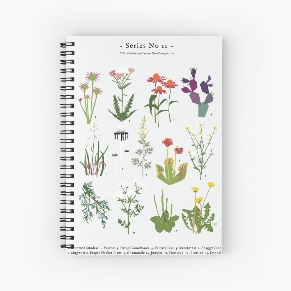 Canadian Prairie Botanicals Spiral Notebook