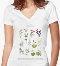 Canadian Prairie Botanicals Fitted V-Neck T-Shirt