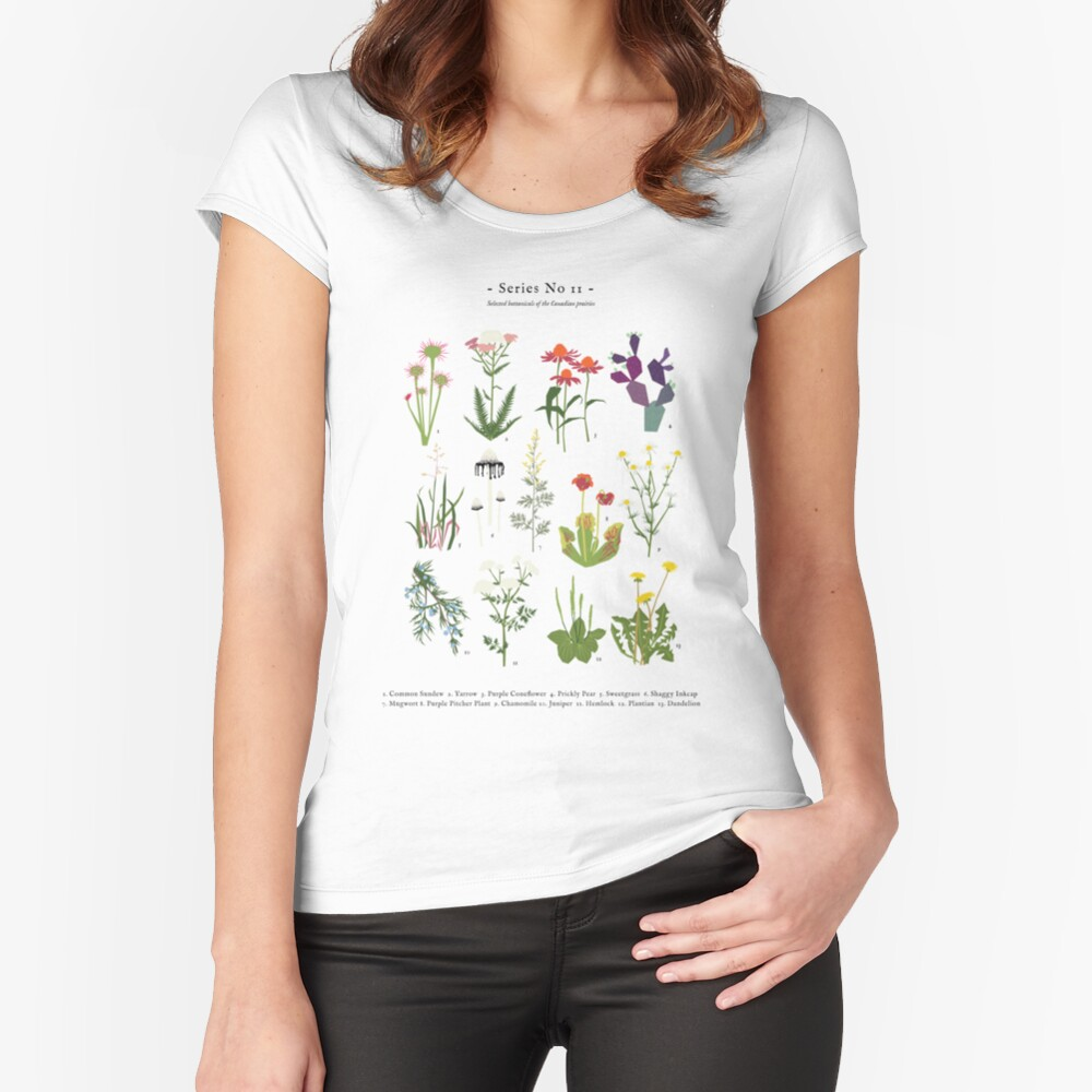 Canadian Prairie Botanicals Fitted Scoop T-Shirt