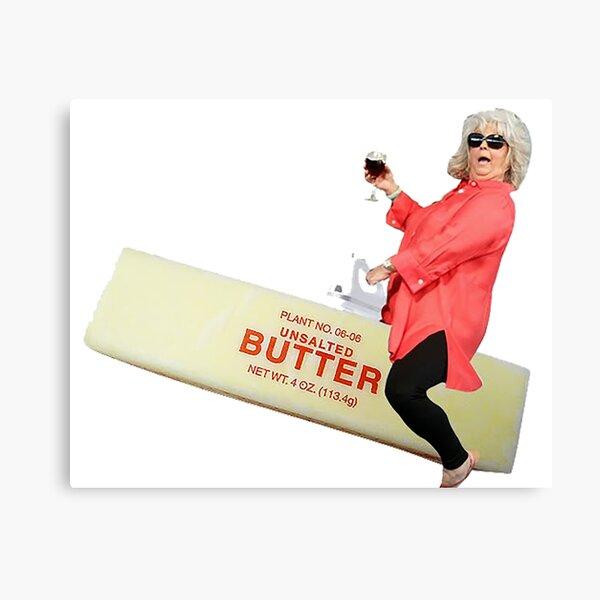 Paula deen riding butter Canvas Print