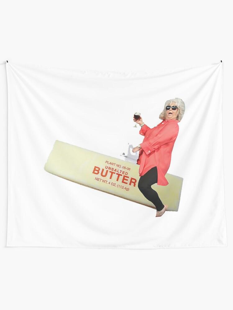 Alternate view of Paula deen riding butter Tapestry
