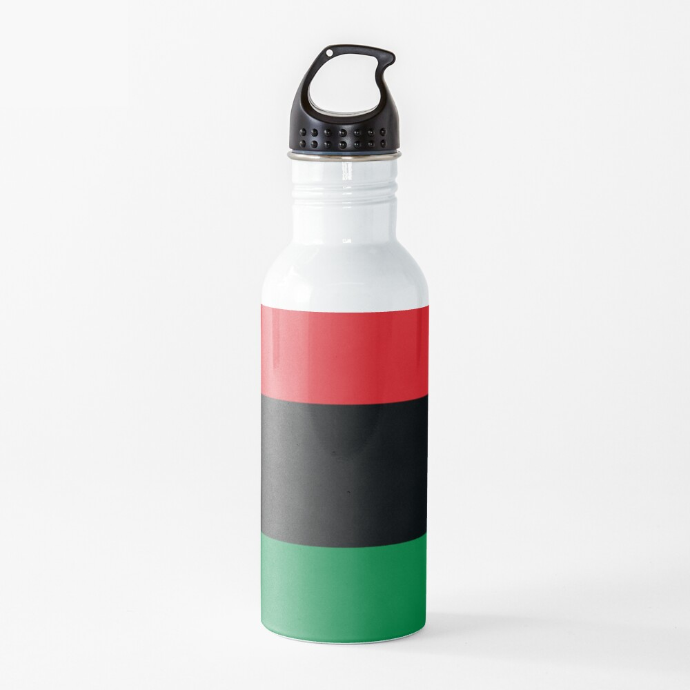 Pan African Flag T-Shirt - UNIA Flag Sticker - Afro American Flag Water Bottle