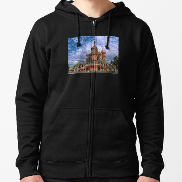 Cathedral of Basil the Blessed, Moscow, Russia Zipped Hoodie