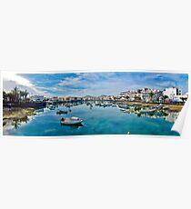 Touristic port in Arrecife Poster