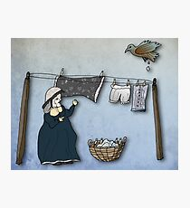 the washer woman & her nemesis... (oh crap!) Photographic Print