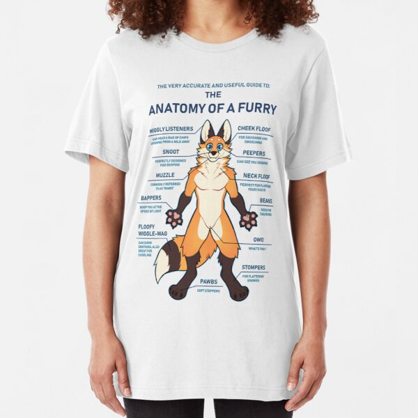 Anatomy of a Furry (Blank) Slim Fit T-Shirt