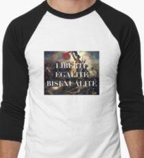 LIBERTE EGALITE BISEXUALITE Men's Baseball ¾ T-Shirt