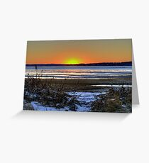 As the Sun Sets Greeting Card