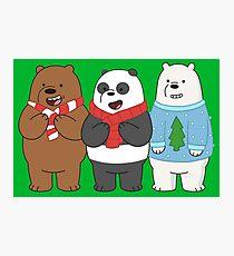 We Bare Bears Photographic Print