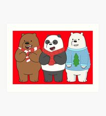 We Bare Bears Art Print