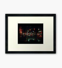 Greenwich Village at Night Framed Print