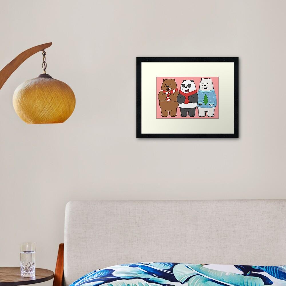 We Bare Bears Framed Art Print
