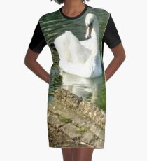 Merch #48 -- Swan - Shot 6 Graphic T-Shirt Dress