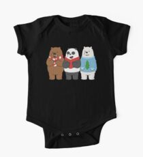 We Bare Bears Short Sleeve Baby One-Piece