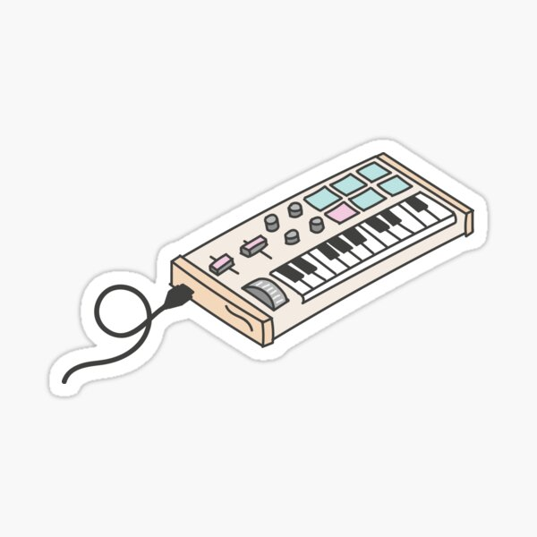 Diseño lindo del teclado midi Pegatina