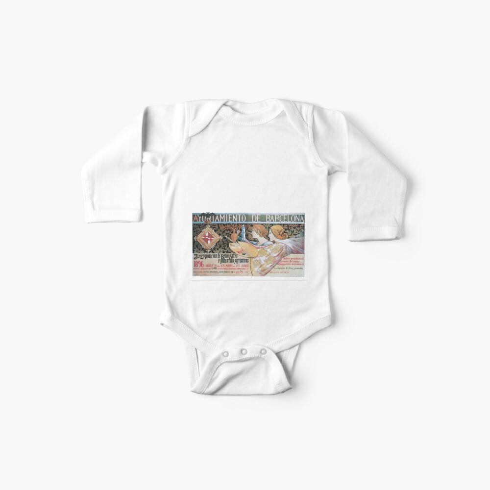 Alexandre de Riquer 3ra Exposición de Bellas Artes é Industrias Artísticas Body para bebé