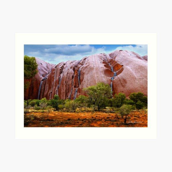 Waterfalls on Ayres Rock Art Print