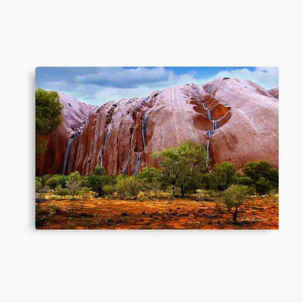 Waterfalls on Ayres Rock Canvas Print