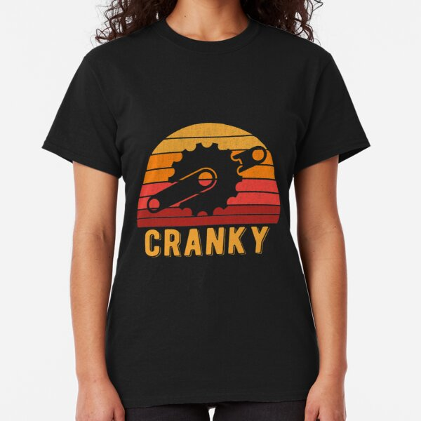 Bicycle Cranky Retro Gift For Cycling Lovers Classic T-Shirt