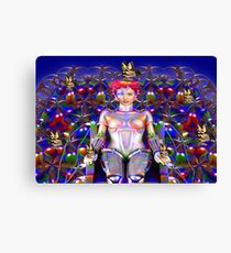 Robot Butterfly Canvas Print