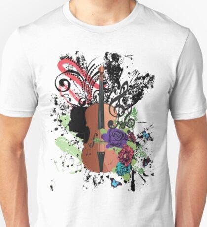 Grunge-Violine-Illustration T-Shirt