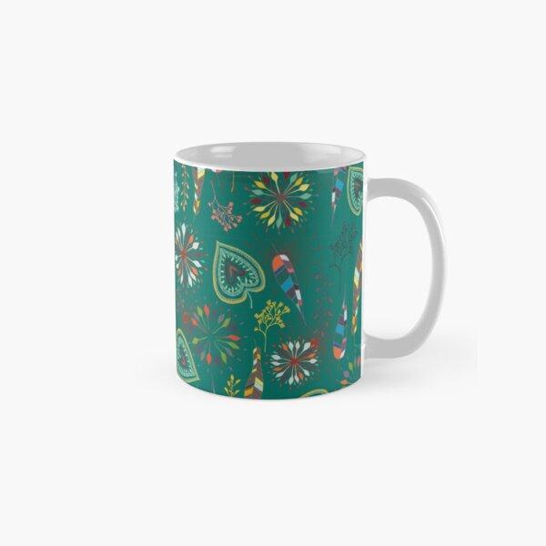 delicate flowers emerald Tasse (Standard)