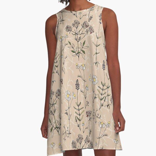 Bauerngarten A-Linien Kleid