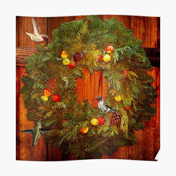 Happy Hummingbird Holidays Poster