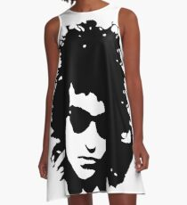 PORTRAIT OF DYLAN The 1960's Folk Music Legend GIFT WRAPPED FOR CHRISTMAS A-Line Dress
