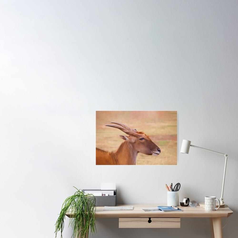 Elegant Eland  (digital painting) Poster