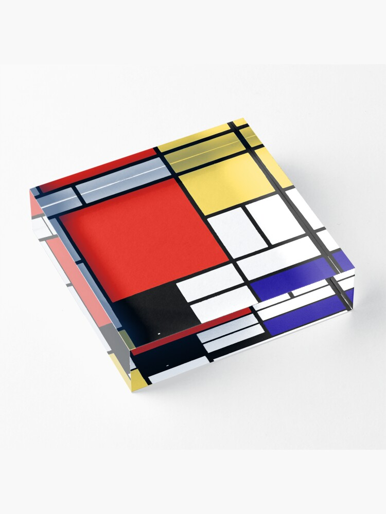 Alternate view of Mondrian  Acrylic Block